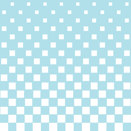 Abstract geometric hipster fashion halftone blue square pattern Illustration