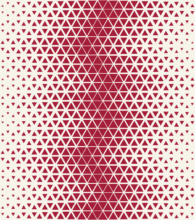 hex: Abstract geometric red deco art halftone hexagone and triangle print pattern