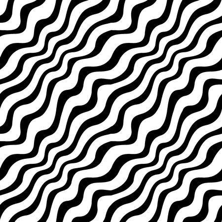 Abstract geometric black and white graphic design print weave pattern Illustration