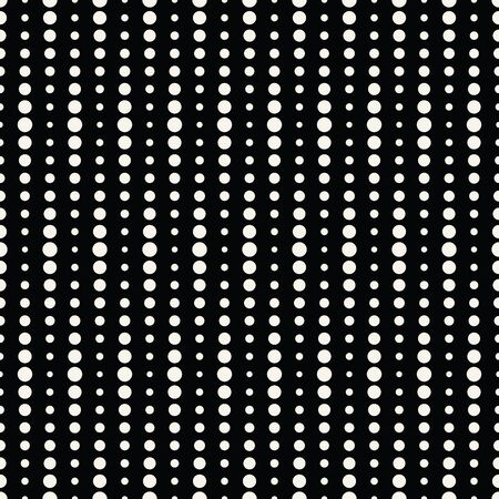 Abstract geometry black and white deco art halftone polka pattern