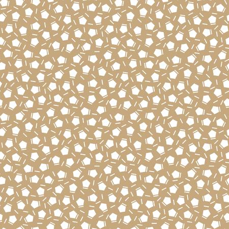 pentagon: Abstract geometry gold deco art memphis fashion pentagon pattern Illustration