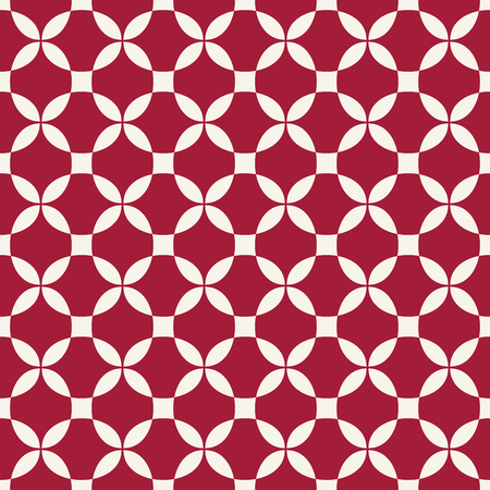 Abstract geometric red hipster deco art pattern Illustration
