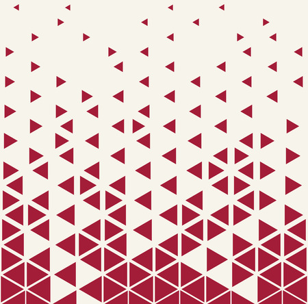 disappear: Abstract geometric red deco art print halftone triangle pattern Illustration