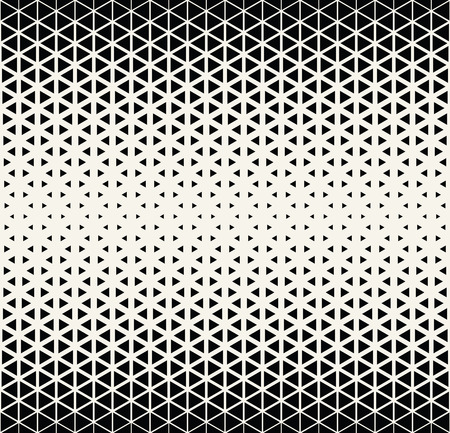 Abstract geometric black and white deco art halftone hexagone  and triangle print pattern
