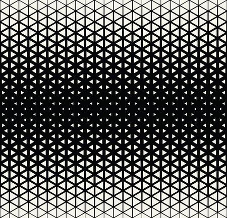 Abstracto geométrico blanco y negro del art déco de medios tonos hexagone y el patrón de impresión triángulo