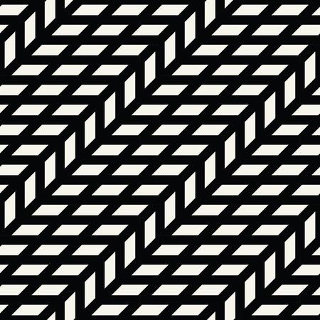 Abstract geometric grid. Black and white minimal graphic design print pattern Illustration