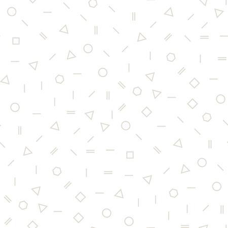 Abstract geometric gray memphis fashion design subtle pattern
