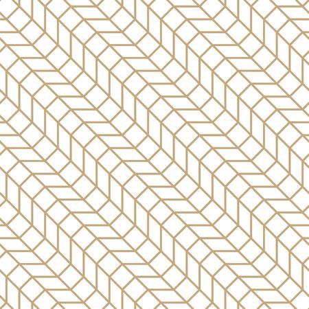Abstract geometric grid. Gold minimal graphic design print pattern Illustration