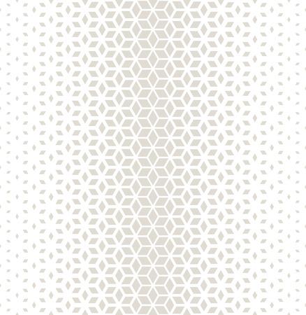 灰色の抽象的な神聖なジオメトリ グリッド ハーフトーン キューブ パターン
