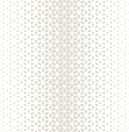 Abstract sacred geometry gray grid halftone cubes pattern Illustration