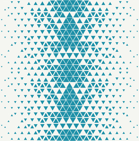 disappear: Abstract geometric blue deco art print halftone triangle pattern Illustration