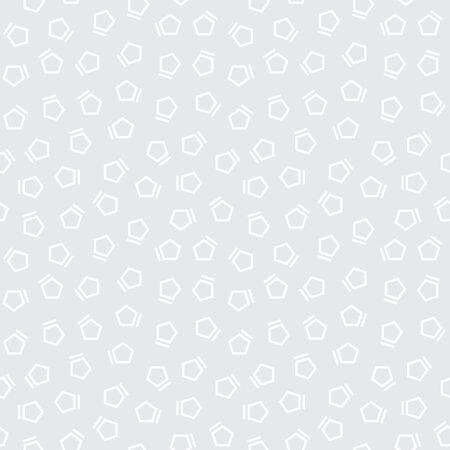 pentagon: Abstract geometrc gray deco art memphis fashion pentagon subtle pattern Illustration