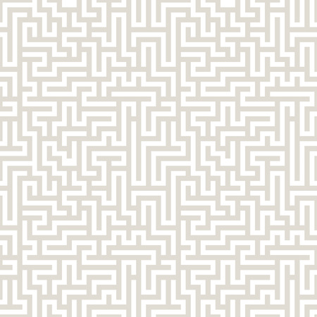 Vector graphic abstract geometry  maze pattern. subtle seamless geometric background . subtle pillow and bed sheet design. unique art deco. hipster fashion print Illustration