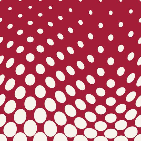 geometric circles gradient halftone seamless red pattern Illustration