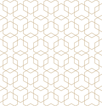 Abstract geometric golden deco art hexagon pattern