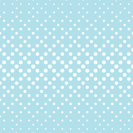 geometric circles gradient halftone seamless blue pattern Illustration