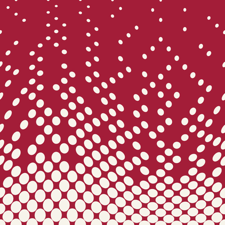 geometric circles gradient halftone seamless red pattern Illustration