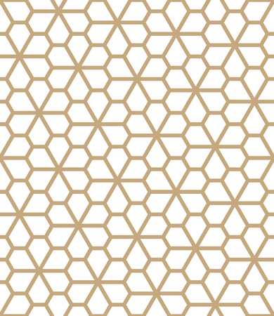 abstract geometric pentagon grid seamless floral pattern