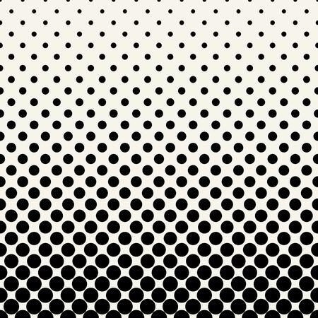 Kreise Halbton nahtlose geometrische Farbverlauf Schwarz-Weiß-Muster