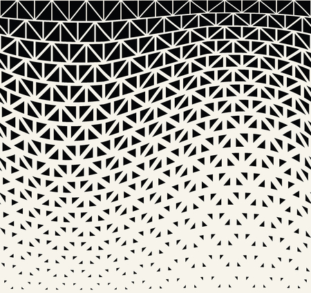 geometric halftone triangle minimal graphic vector pattern Stock Illustratie
