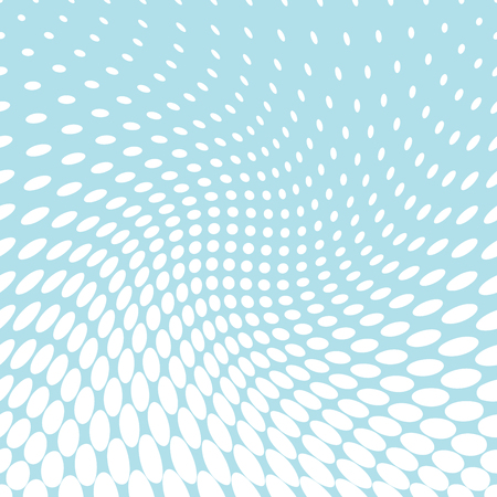seventies: circles halftone seamless geometric gradient blue  pattern