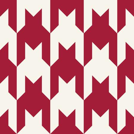 houndstooth checkered fashion trendy textile geometric pattern Illustration