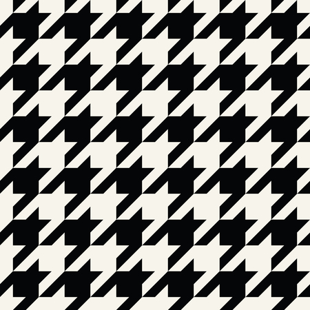 houndstooth checkered fashion trendy textile black and white geometric pattern Illustration