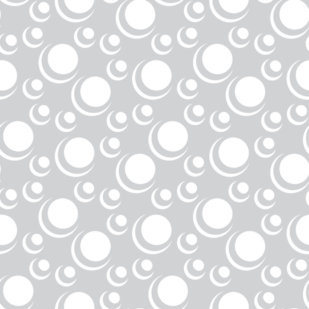 seventies: cute geometric bubbles graphic print vector pattern