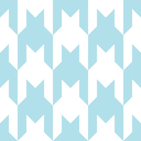 seventies: houndstooth checkered fashion trendy textile geometric pattern Illustration
