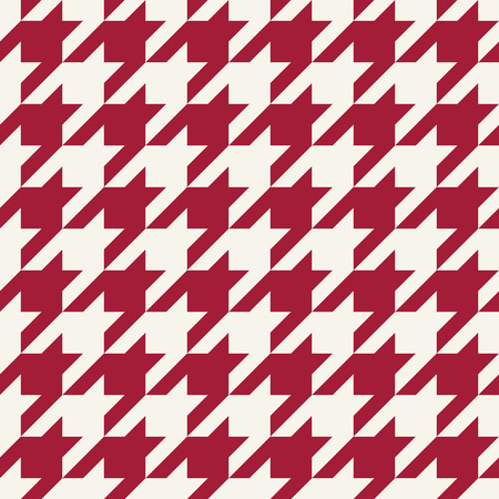 houndstooth checkered fashion trendy textile geometric pattern Stock Illustratie