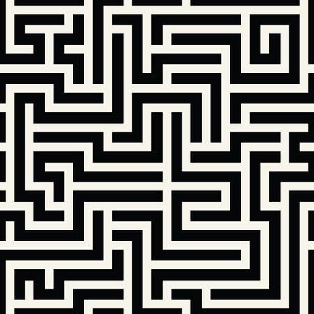 抽象的な幾何学的なライン グラフィック迷路パターン背景  イラスト・ベクター素材