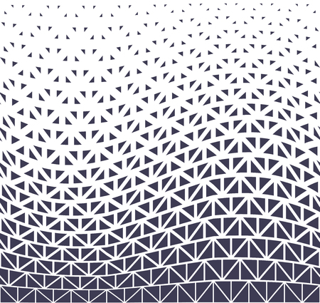 geometric halftone triangle minimal graphic vector pattern Illustration