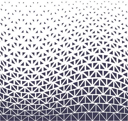 geometric halftone triangle minimal graphic vector pattern Illustration