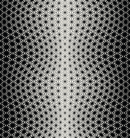 seventies: sacred geometry halftone triangle graphic pattern print