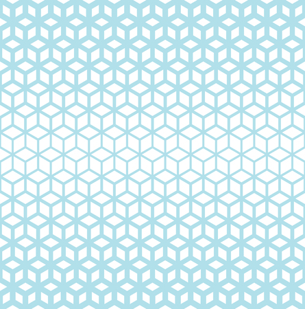 Abstract sacred geometry blue grid halftone cubes pattern Illustration