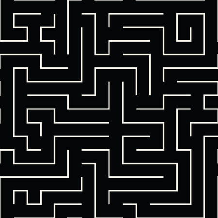 seventies: abstract geometric line graphic maze pattern background
