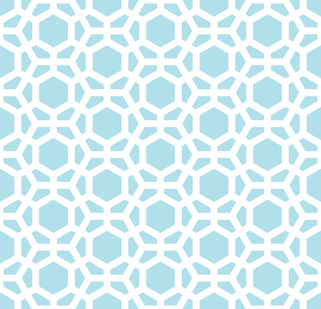 seventies: hexagon geometric line grid pattern vector background Illustration