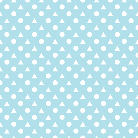 triangles and circles seamless pattern vector geometric background