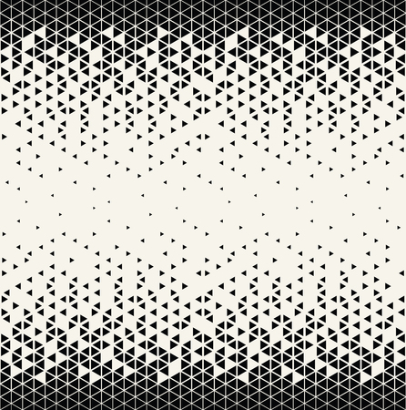abstract geometric triangle halftone gradient seamless vector pattern