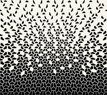 幾何学的なハーフトーン グラデーション ペンタゴン シームレスなベクトル パターン ベクターイラストレーション