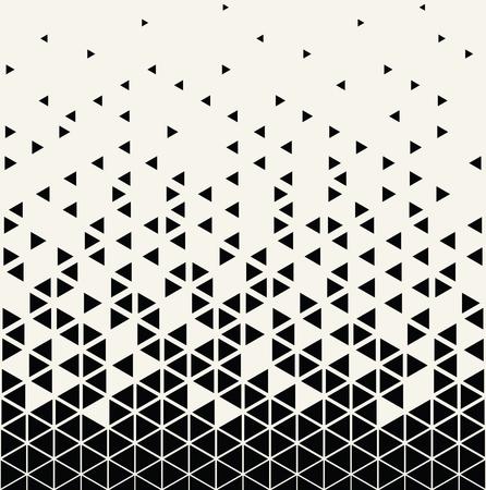 抽象的な幾何学的な三角形ハーフトーン グラデーションのシームレスなベクトル パターン  イラスト・ベクター素材