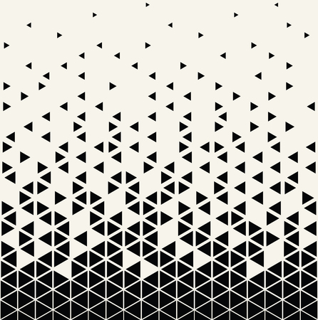 Abstract geometric triangle halftone gradient seamless vector pattern Ilustração