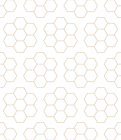 bed sheet: geometric hexagon seamless vector pattern minimal background