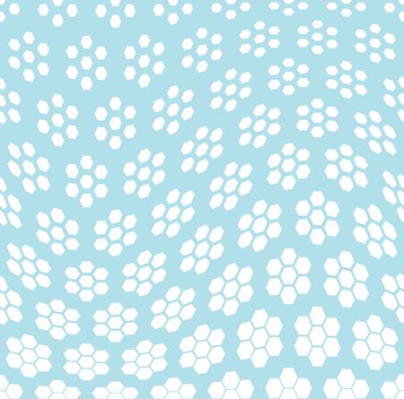 geometric hexagon seamless vector halftone pattern background Illustration