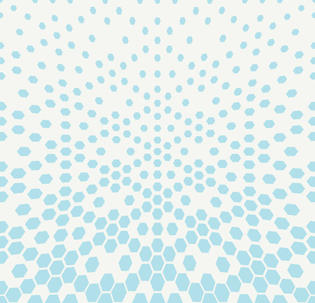 eighties: hexagon halftone gradient geometric deco pattern background