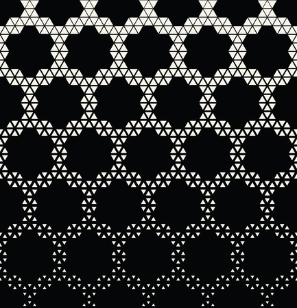 geometric hexagon seamless vector triangle halftone pattern background