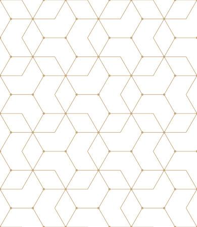 grid background: seamless geometric line grid vector hexagon pattern
