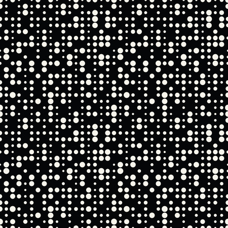 Geometric dots deco art seamless pattern design. 矢量图像