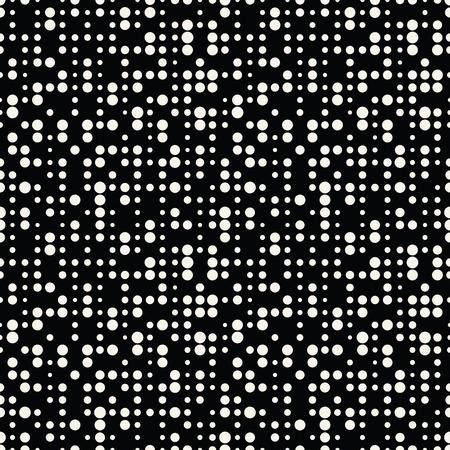 Geometric dots deco art seamless pattern design. Stock Illustratie
