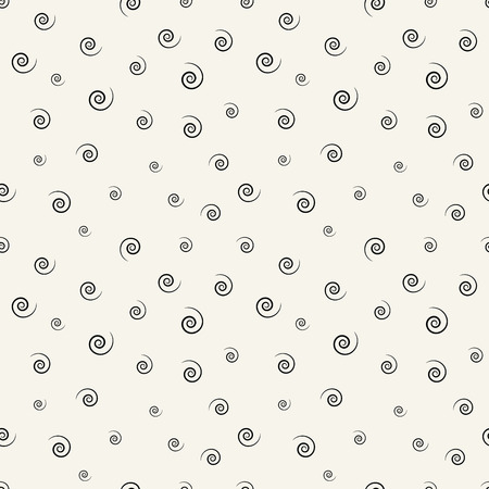memphis style spiral seamless pattern Illustration
